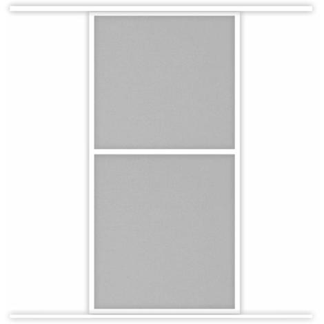 Moustiquaire Coulissante Baie vitrée CONFORT 1 Panneaux Alu L120 x H240 cm Blanc