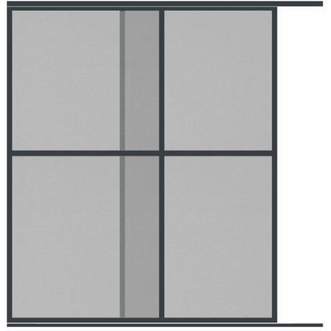 Moustiquaire Coulissante Baie vitrée XXL - 2 Panneaux - Alu - L240 x H240 cm