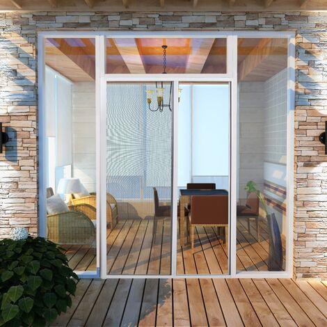Moustiquaire Coulissante Pour Portes Blanc 120x215 Cm 141567