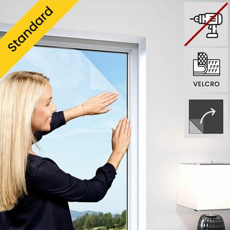 Moustiquaire de fenetre auto-agrippante elastique Gris anthracite - Gris anthracite