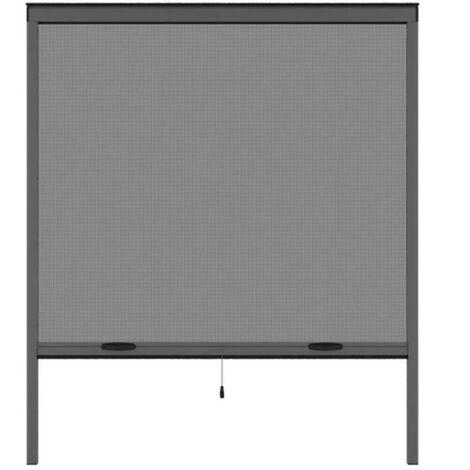 Moustiquaire de fenetre L170 x H160 cm en aluminium gris anthracite - Recoupable en largeur et hauteur