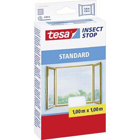 Moustiquaire de Fenêtre Standard 1m10x1m30 Blanche