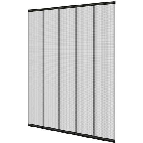 Moustiquaire de porte 125x240 cm fermeture automatique avec matériel de montage