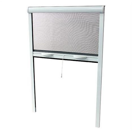 Moustiquaire Enroulable Alu H220 X L130 Cm Blanc Pour Porte Et