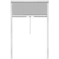 Moustiquaire enroulable blanche pour fenêtre 120 x 170 cm
