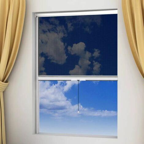 Moustiquaire enroulable blanche pour fenêtre 80 x 170 cm - blante