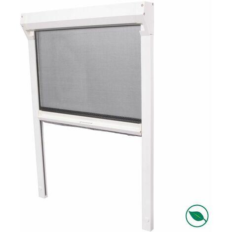 Moustiquaire enroulable comfort blanc 155 x 114 cm .