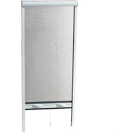 Moustiquaire enroulable en aluminium pour porte - H.220 x L.160 cm - Blanc