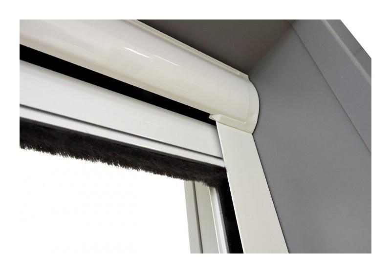 Moustiquaire Enroulable Fenêtre De Toit Rollo Pro Alu Blanc L80 X