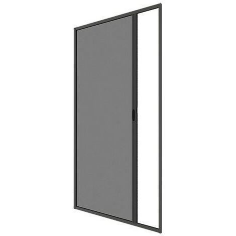 Moustiquaire enroulable latérale Alu Gris anthracite H 220 x L 160 cm - Gris