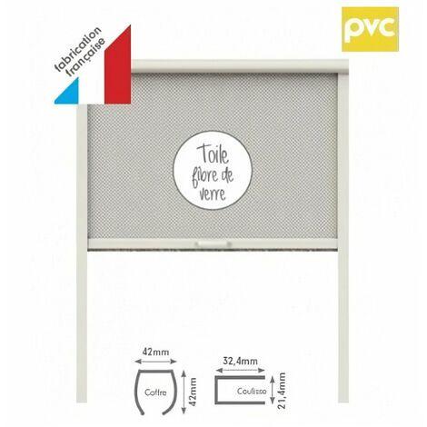 Moustiquaire enroulable PVC pour fenetre L125 x H160 cm blanc - MOUSTIKIT