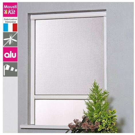 Moustiquaire enroulable verticale H160 cm x L125 cm ALU gris - Moustikit Confort