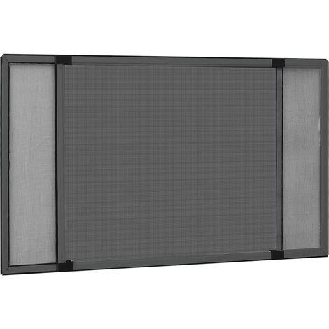 Moustiquaire extensible pour fenêtres Anthracite (75-143)x50 cm