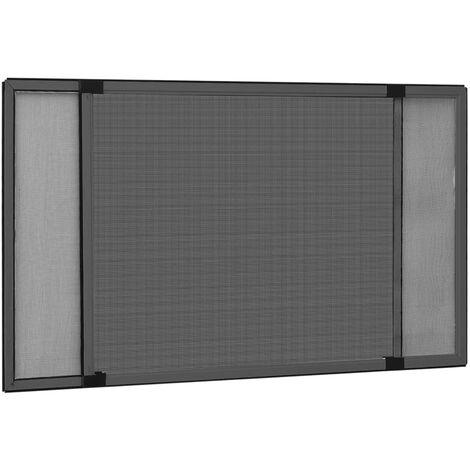 Moustiquaire extensible pour fenetres Anthracite (75-143)x50 cm