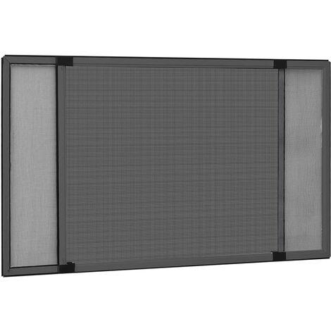 Moustiquaire extensible pour fenêtres Anthracite (75-143)x50 cm1521-A