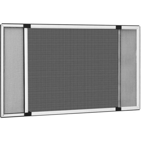 Moustiquaire extensible pour fenetres Blanc (100-193)x75 cm