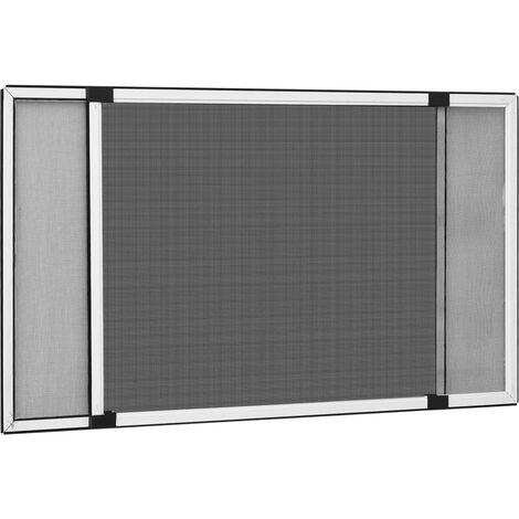 Moustiquaire extensible pour fenêtres Blanc (100-193)x75 cm1522-A