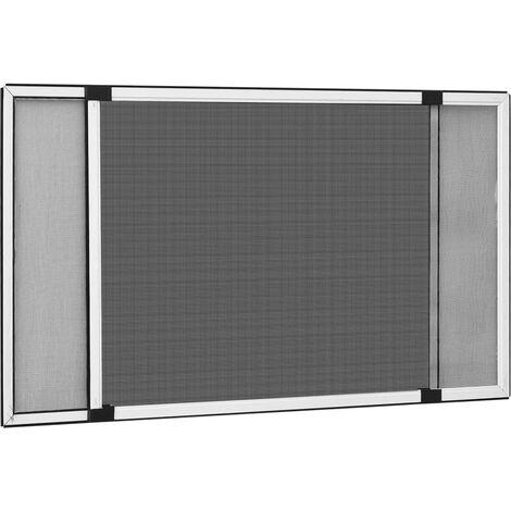 Moustiquaire extensible pour fenêtres Blanc (75-143)x50 cm