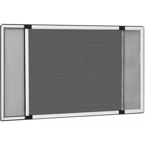 Moustiquaire extensible pour fenetres Blanc (75-143)x50 cm