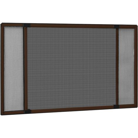 """main image of """"Moustiquaire extensible pour fenêtres Marron (100-193)x75 cm"""""""