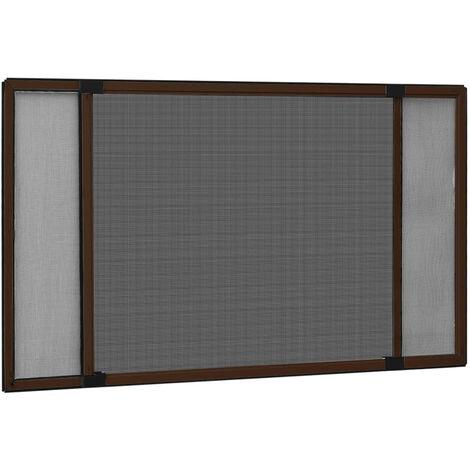Moustiquaire extensible pour fenetres Marron (75-143)x50 cm