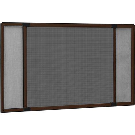 Moustiquaire extensible pour fenêtres Marron (75-143)x50 cm1520-A