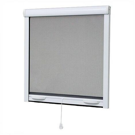 Moustiquaire fenêtre 125x145 cm, en aluminium - Blanc