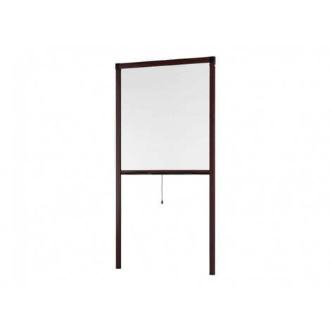 moustiquaire enroulable fen tre smart alu marron l100 x. Black Bedroom Furniture Sets. Home Design Ideas