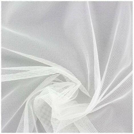Moustiquaire Fenêtre MadeInNature Protection Anti-Insecte Maille Hyper Fine Découpable et Indéchirable / Dimensions au choix - Blanc - 500cm - 1.50 m.