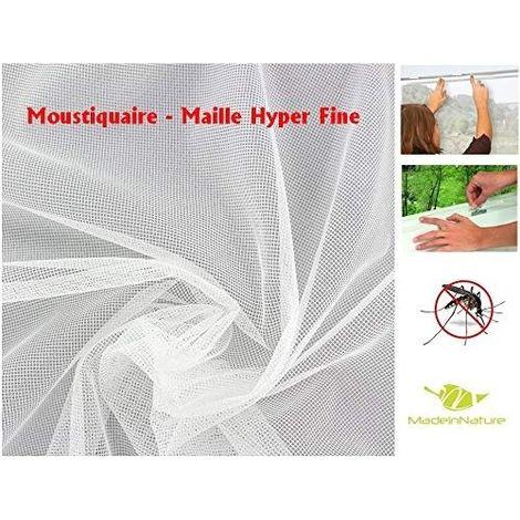 Moustiquaire Fenêtre, Protection Anti-Insecte / Maille Fine Stop Insecte Découpable & Indéchirable/Blanc Dimensions au Choix