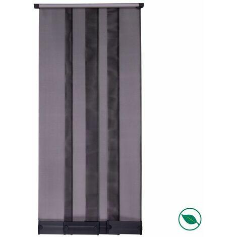 Moustiquaire Kit rideau 4 lamelles standard noir 235 x 95 cm.