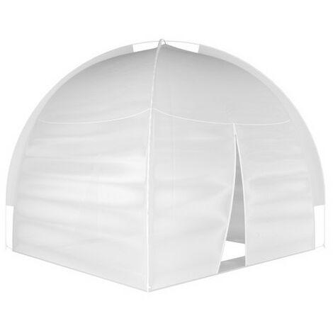 Moustiquaire lit dôme pop up 150x200 - Blanc