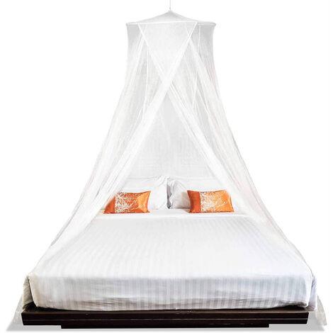 Moustiquaire, lit double et lit simple moustiquaire 60 ¡Á 250 ¡Á 1200 cm, anti-moustique blanc
