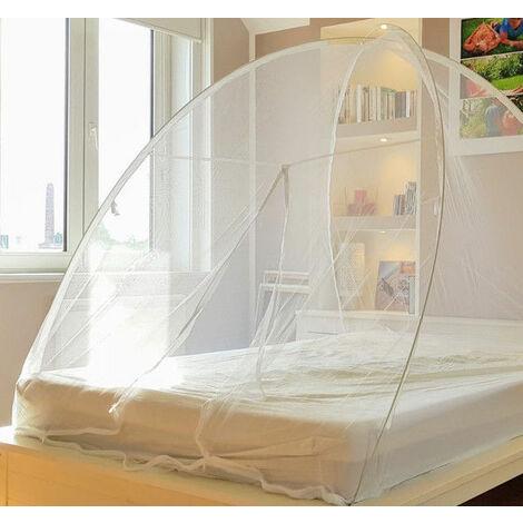 Moustiquaire lit & jardin dôme pop up fermeture zippée