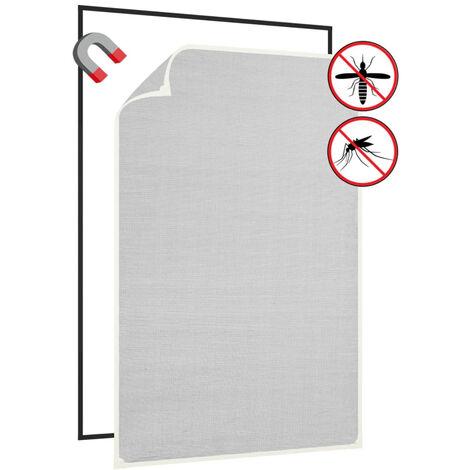 Moustiquaire magnetique a fenetre Blanc 80x120cm Fibre de verre