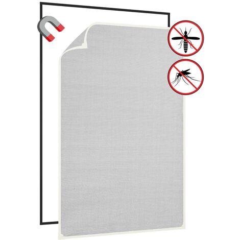 Moustiquaire magnétique à fenêtre Blanc 80x120cm Fibre de verre1526-A