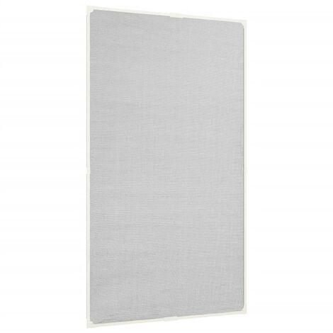 Moustiquaire magnétique à fenêtre Blanc 80x140cm Fibre de verre