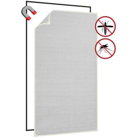 Moustiquaire magnétique à fenêtre Blanc 80x140cm Fibre de verre1524-A