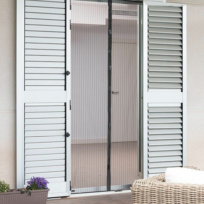 Liveinu Moustiquaire de Porte Ou Fenetre Magnetique Rideau Moustiquaire De Porte Avec Aimants Blanc 100x100cm