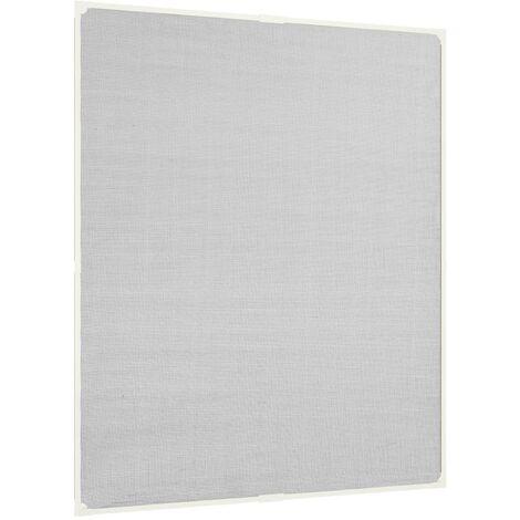 Moustiquaire magnétique fenêtre Blanc 100x120 cm Fibre de verre