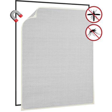 Moustiquaire magnetique fenetre Blanc 100x120 cm Fibre de verre