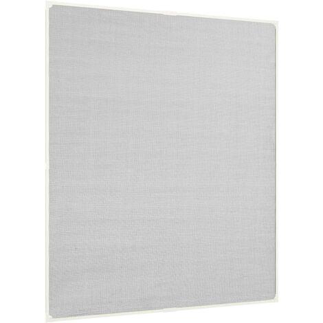 Moustiquaire magnétique fenêtre Blanc 120x140 cm Fibre de verre