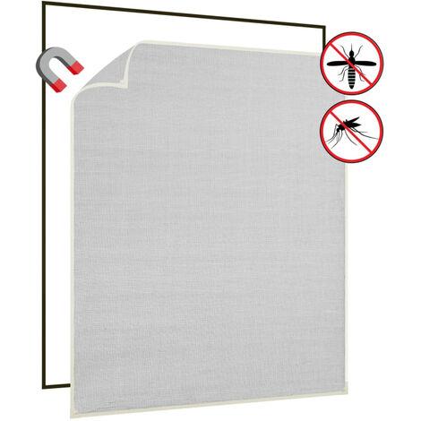 Moustiquaire magnetique fenetre Blanc 120x140 cm Fibre de verre