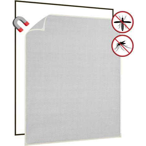 Moustiquaire magnétique fenêtre Blanc 120x140 cm Fibre de verre1530-A