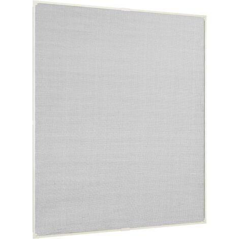 Moustiquaire magnétique fenêtre Blanc 130x150 cm Fibre de verre