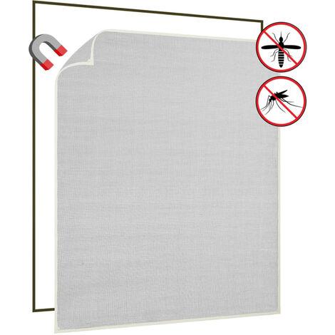 Moustiquaire magnetique fenetre Blanc 130x150 cm Fibre de verre