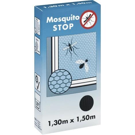 Moustiquaire Mosquito Stop gris 1,3m x 1,5m fenêtre