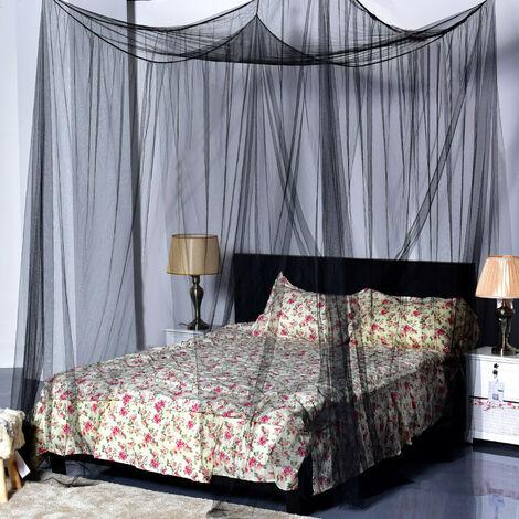 Moustiquaire noir anti-mouches anti-insectes moustiquaire moustiquaire moustiquaire double lit king size noir noir