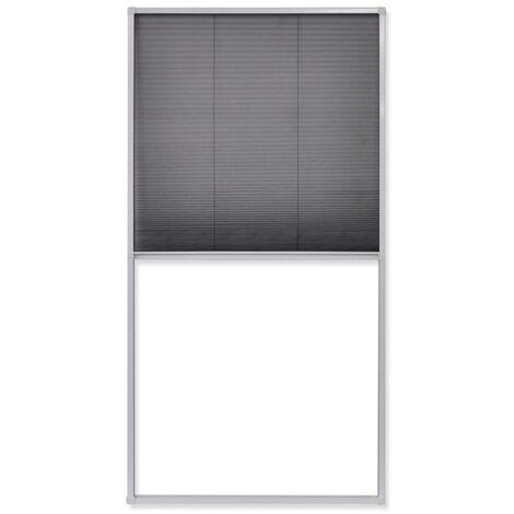 Moustiquaire plissée pour fenêtre 160 x 80 cm