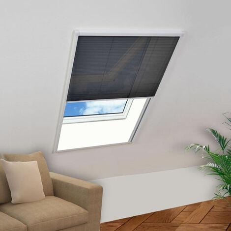 Moustiquaire plissee pour fenetre Aluminium 120x160 cm